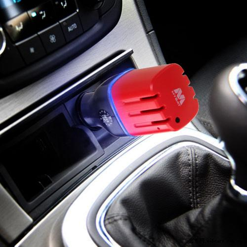 Car Charger w/ Air Purifier(w/ Dual USB output)(3.1A) [Black/ Red]