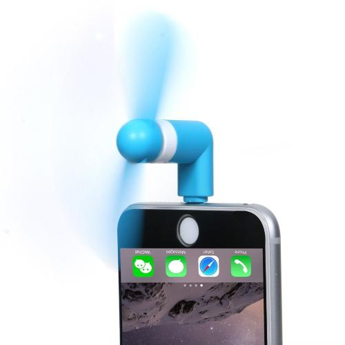 Portable Apple iPhone SE/5/5S/6S/6S Plus Cooling Fan [Blue] - Use Your Phone to Cool Off!