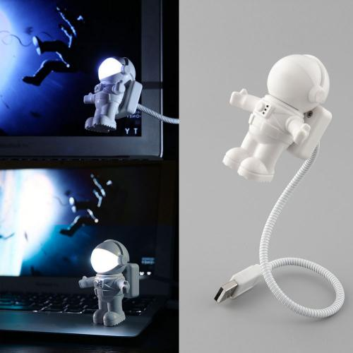 Universal White Astronaut USB Mini LED Light Lamp