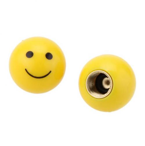 Auto Motorcycle Wheel Valve Cap [Smiley Face] 4- Pack