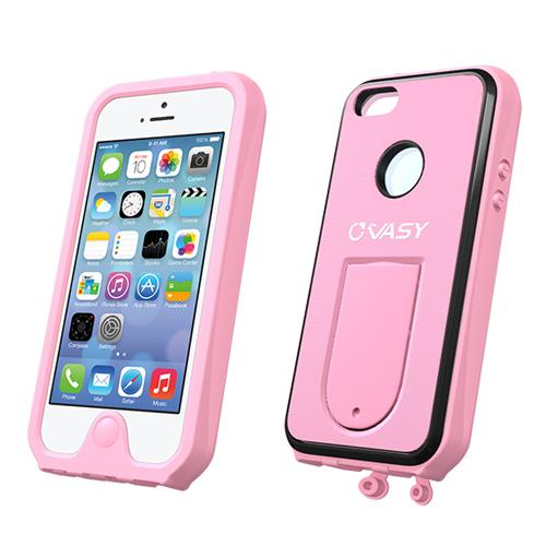 Apple iPhone SE / 5 / 5S  Case, VASY [Baby Pink]  Waterproof/ Dustproof/ Dirt Proof Protective Hard Case w/ Kickstand & Lanyard - Perfect Alternative to LifeProof!