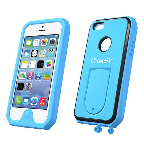 Apple iPhone SE / 5 / 5S  Case, VASY [Sky Blue]  Waterproof/ Dustproof/ Dirt Proof Protective Hard Case w/ Kickstand & Lanyard - Perfect Alternative to LifeProof!