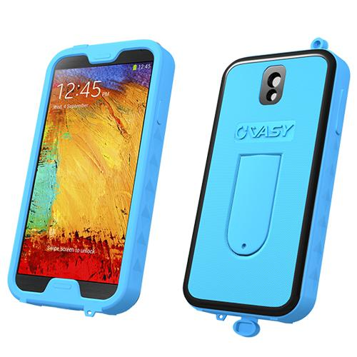 VASY Sky Blue Samsung Galaxy Note 3 Waterproof/ Dustproof/ Dirt Proof Protective Hard Case w/ Kickstand & Lanyard - Perfect Alternative to LifeProof!
