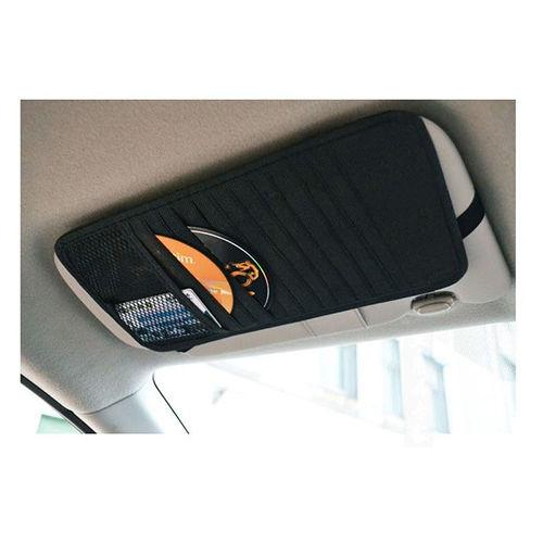 Car Visor Organizer [Black] - Perfect for CD's, Cards, Receipts, ETC