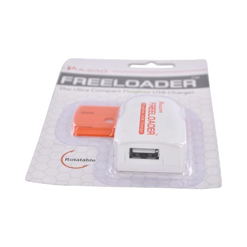 Original Vulcan Freeloader Plugfree USB Charger (1000mAh), VPS11Q1FL - White/ Orange