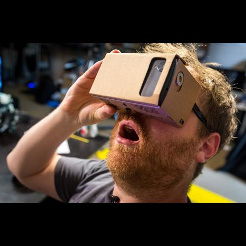 Virtual Reality Cardboard for 4.7 - 5.2 inches phones) 3D Glasses DIY Tool Kit Featuring NFC Easy Setup