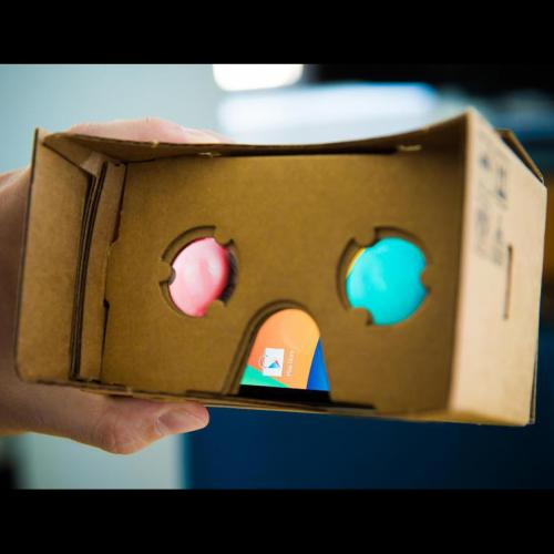Virtual Reality Cardboard (for 4.7 ~ 5.2 inches phones) 3D Glasses DIY Tool Kit Featuring NFC & Easy Setup