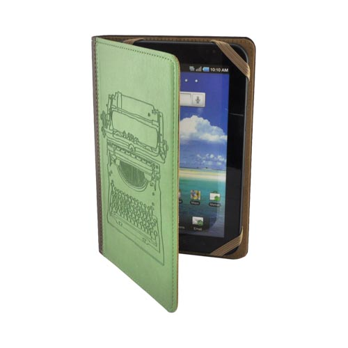 Original LightWedge Verso Artist Series Universal E-Reader Cover Case, VR008-952-23 - Green/ Brown Typewriter