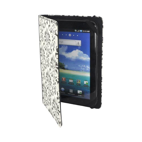 "Original LightWedge Verso Versailles 7"" Tablet & E-reader Cover Case, VR025-001-23 - Black Paisley on White"