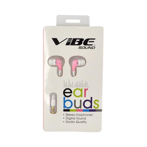 Original VIBE Sound Universal Earbud Stereo Headset (3.5mm), VS-505-PNK - Baby Pink