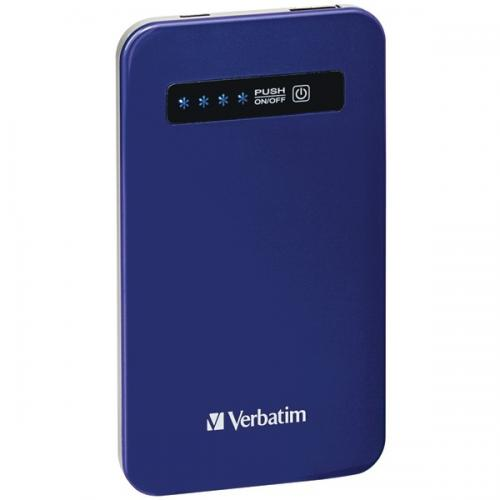 VERBATIM 98455 4,200mAh Ultraslim Power Pack (Cobalt Blue)