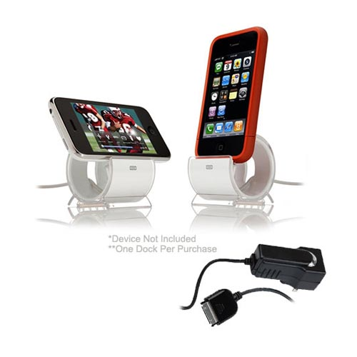 AT&T / Verizon iPhone 4, iPhone 4S Essential Combo Package w/ White Plastic Case, Screen Protector, Car Charger, and Sinjimoru Stand