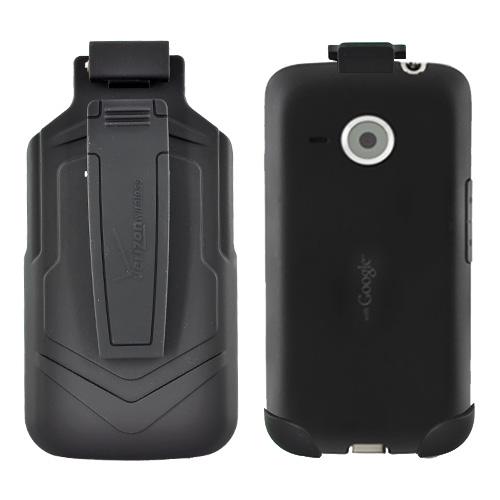 Original Verizon HTC Droid Eris S6200 Rubberized Face Inward Holster w/ Swivel Belt Clip,VZW6200HOL - Black