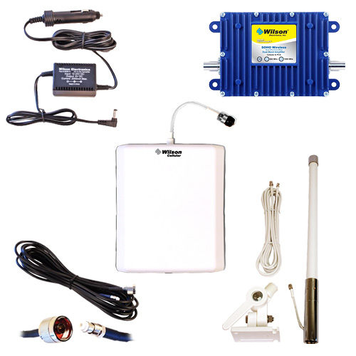 Wilson SOHO Wireless Dual-Band 50dB Complete Kit for Boats- AQUA