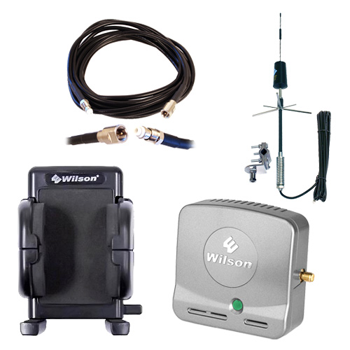 Wilson Mini Dual Band Mobile Wireless Smart Tech Amplifier w/SMA Connectors Kit (Includes Cell Phone Cradle Plus) for RV TRAILER- HOUND