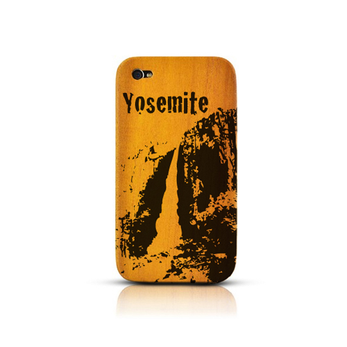 TPhone Eco-Design AT&T/ Verizon Apple iPhone 4, iPhone 4S 100% Teak Hard Wood Back Cover Case w/ Screen Protector - Yosemite [ENGRAVING]