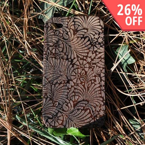 Exclusive TPhone Apple Verizon/ AT&T iPhone 4, iPhone 4S 100% Hard Wood Back Cover Case - Sonokeling Black Wood (Copacabana Design)