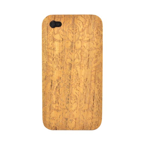 Exclusive TPhone Apple Verizon/ AT&T iPhone 4, iPhone 4S 100% Hard Wood Back Cover Case - Teak Brown Wood (Avantgarde Design)