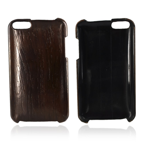 """Exclusive"" TPhone Eco-Design Apple iPod Touch 2nd & 3rd Generation Wood Finish Hard Back Cover Case - Dark Beech Wood"