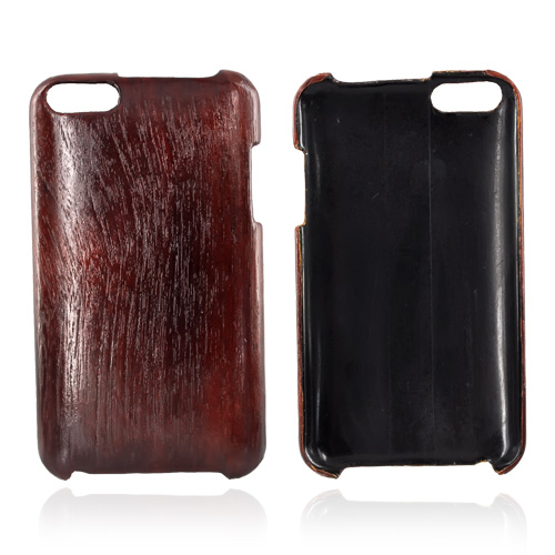 """Exclusive"" TPhone Eco-Design Apple iPod Touch 2nd & 3rd Generation Wood Finish Hard Back Cover Case - Dark Rose Wood"
