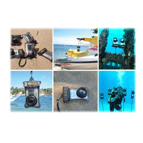 Original DICAPac Universal Waterproof Digital Camera Case w/ Zoom Lens, WP-570 - Black (13x19cm)