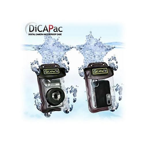 Waterproof Bundle Package - Dicapac WP-710 Waterproof Digital Camera Case for Cameras w/ Zoom Lens & Stereo Earphone Headset - (Traveller Combo)