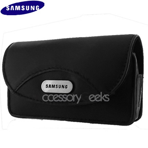 Original Samsung Universal Horizontal Black Leather Pouch, WT17200000113