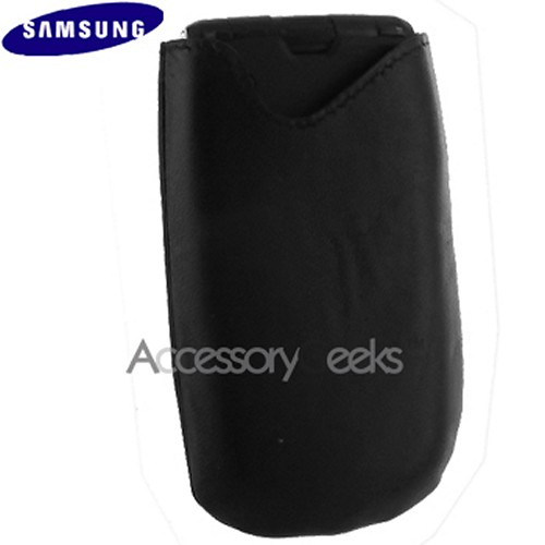 Original Samsung Flat Leather Pouch Case, WT17200000161