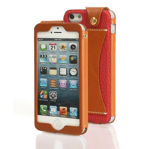 Red Wetherby Premium Bar Series Handcrafted Leather Case w/ ID Slot for Apple iPhone 5