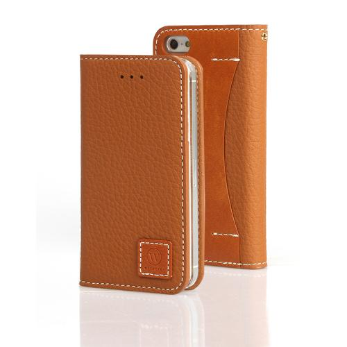 Caramel Brown Wetherby Premium Basic Series Handcrafted Leather Case Wallet w/ ID Slots for Apple iPhone 5