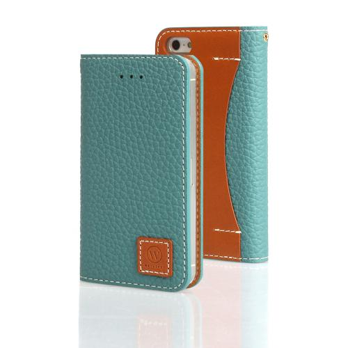Mint Wetherby Premium Basic Series Handcrafted Leather Case Wallet w/ ID Slots for Apple iPhone 5