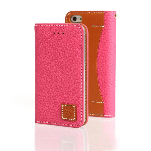 Pink Wetherby Premium Basic Series Handcrafted Leather Case Wallet w/ ID Slots for Apple iPhone 5