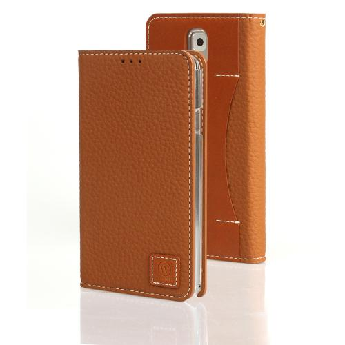 Caramel Brown Wetherby Premium Basic Series Handcrafted Leather Case Wallet w/ ID Slots for Samsung Galaxy Note 3