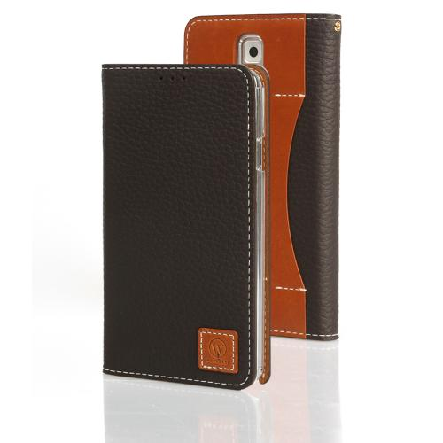 Dark Brown Wetherby Premium Basic Series Handcrafted Leather Case Wallet w/ ID Slots for Samsung Galaxy Note 3