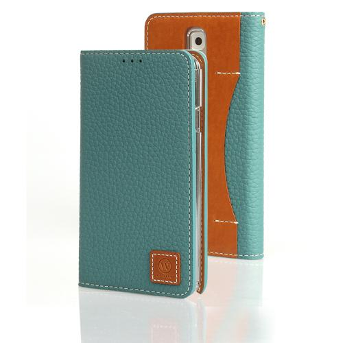 Mint Wetherby Premium Basic Series Handcrafted Leather Case Wallet w/ ID Slots for Samsung Galaxy Note 3