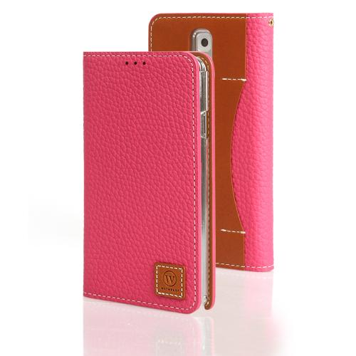 Pink Wetherby Premium Basic Series Handcrafted Leather Case Wallet w/ ID Slots for Samsung Galaxy Note 3