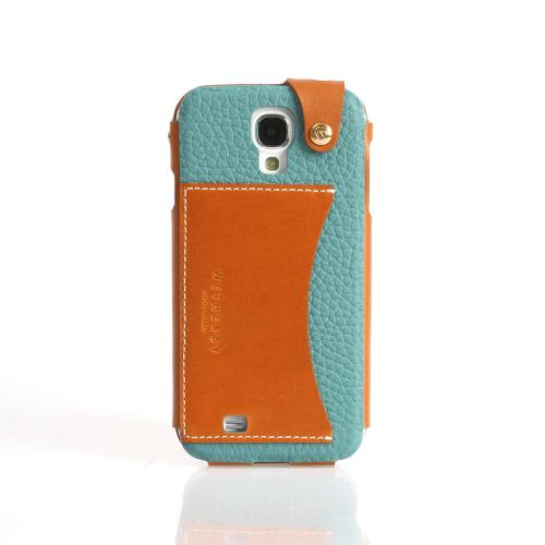 Mint Wetherby Premium Bar Series Handcrafted Leather Case w/ ID Slot for Samsung Galaxy S4