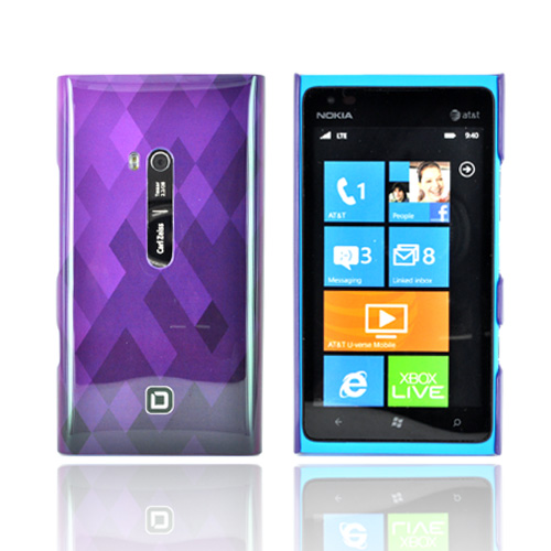 Original Dicota Nokia Lumia 900 Hard Case, D30496 - Light Purple/ Purple/ Dark Purple Diamonds