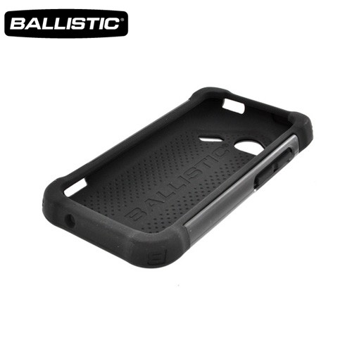 Ballistic HTC Droid Incredible 4G LTE SG Hard Case on Silicone, SG0900-M005 - Black