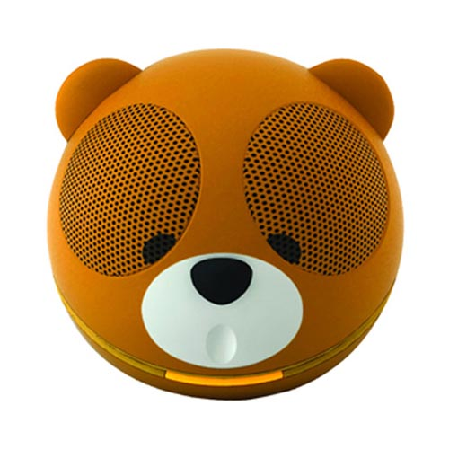 Original GameOn Audio Portable Battery/ USB Powered Speaker (3.5mm) - Brown/ White/ Black Teddy Bear