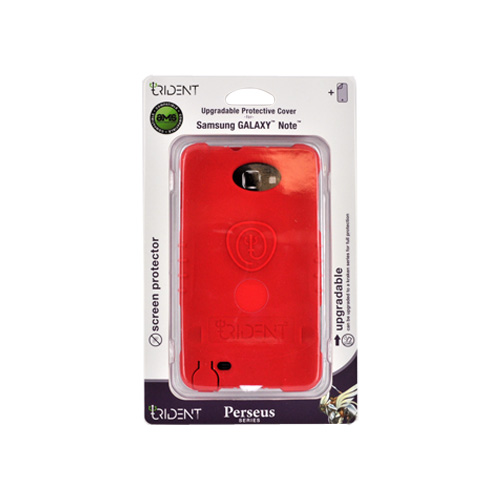 Trident Perseus Samsung Galaxy Note Impact-Resistant Silicone Case - Red