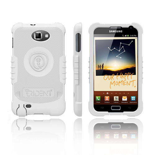 Trident Perseus Samsung Galaxy Note Impact-Resistant Silicone Case - White