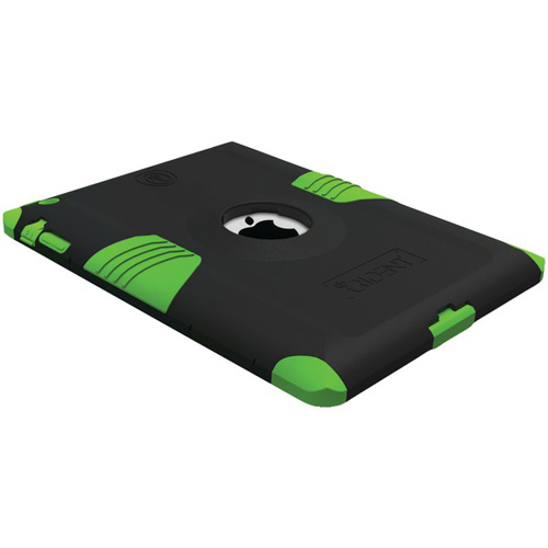 Original Trident Kraken AMS Apple New iPad Hard on Silicone Case w/ Built-In Screen Protector, AMS-NEW-IPAD-TG - Black/ Lime Green