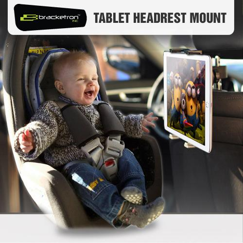 Bracketron Pro-Series Universal Tablet Headrest Mount, IPD-362-BX - Black