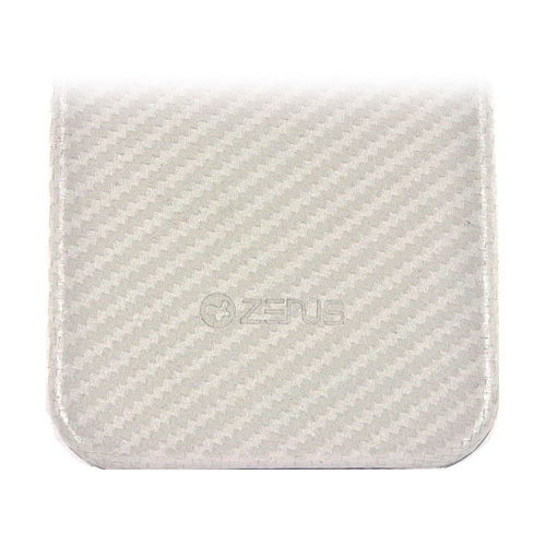 Zenus Apple iPhone 4, iPhone 4S Prestige Skin Air Pocket Case - White Carbon Fiber
