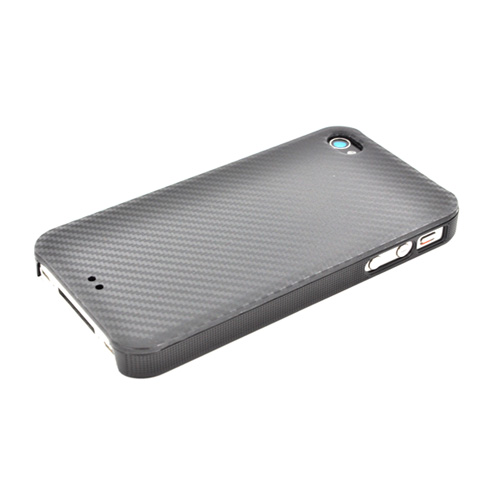 Original Luxmo Platinum Lux Jacket AT&T/ Verizon Apple iPhone 4, iPhone 4S Hard Case w/ Screen Protector - Black Carbon Fiber