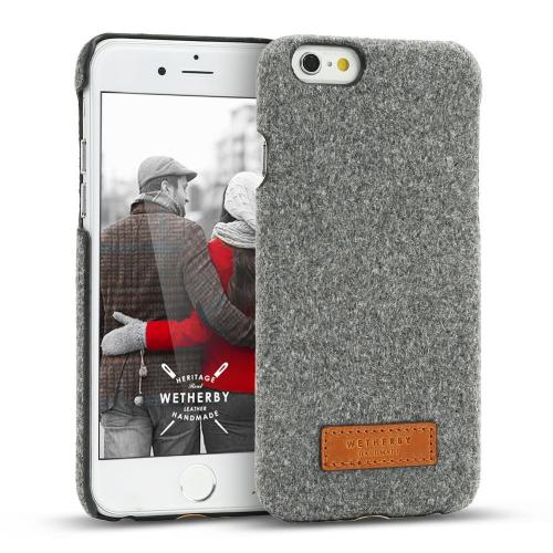 Apple iPhone 6/6S (4.7 inch) Case, DesignSkin Wetherby Bar-Type : 100% Handmade Premium Unique Simple Design Thin Skin Best Cover Case Soft and Hard with Fine Material (Melange/Gray)