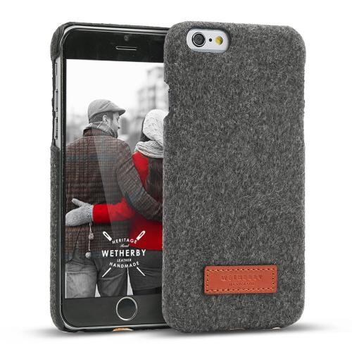 Apple iPhone 6/6S (4.7 inch) Case, DesignSkin Wetherby Bar-Type : 100% Handmade Premium Unique Simple Design Thin Skin Best Cover Case Soft and Hard with Fine Material (Melange/Dark Gray)