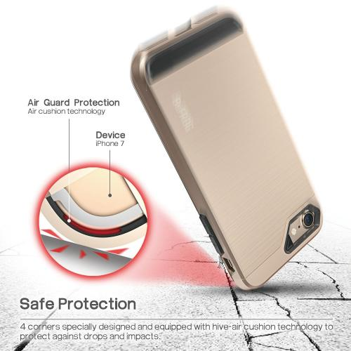 Apple iPhone 7 (4.7 inch) Case, BEFROG [Gold] Dual Layer Drop Protective Case [Armor Case] PC + TPU Bumper Case