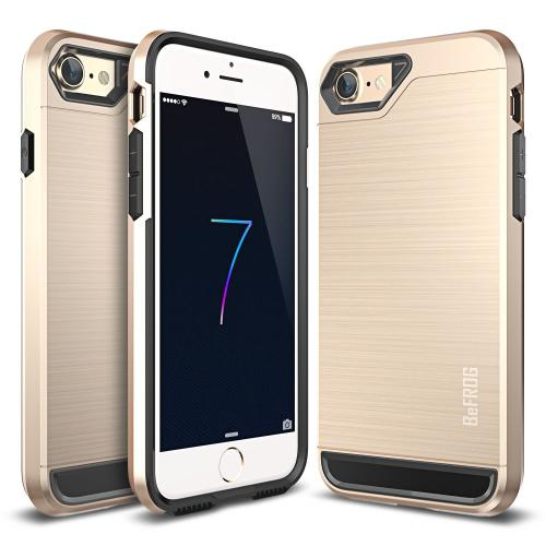 [Apple iPhone 7] (4.7 inch) Case, BEFROG [Gold] Dual Layer Drop Protective Case [Armor Case] PC + TPU Bumper Case